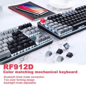 Image 3 - RF912D 87 Keys Keyboard Backlit bluetooth Wireless Wired Rechargeable Gaming Keyboard Ergonomic For PC Laptop Tablet