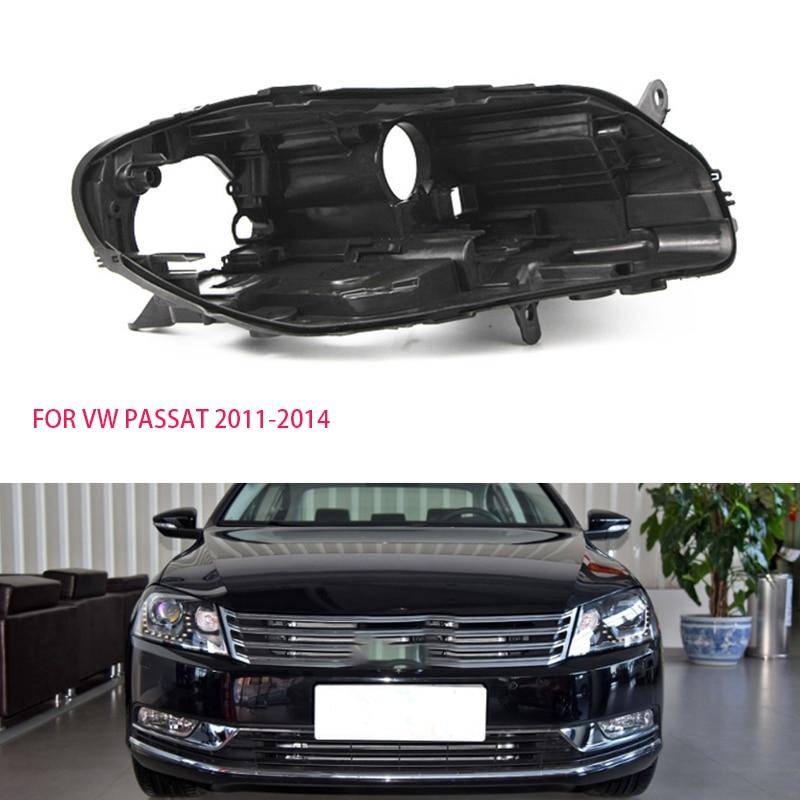 for vw Passat shell Headlight black casing lampshade Black lampshade Headlight base lens black case car hood wrap 2011-2014shell