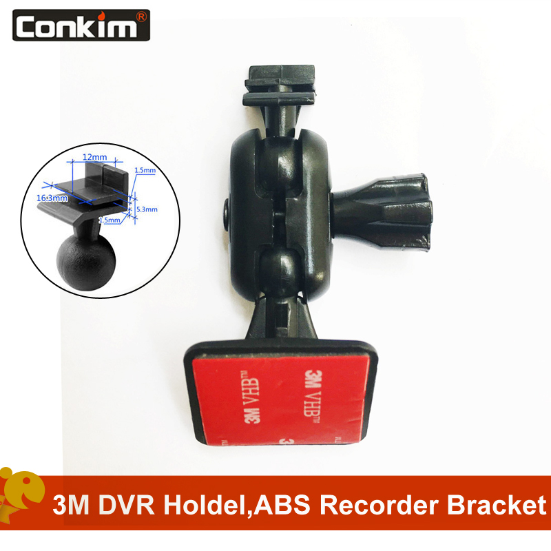Conkim 360 Degree Auto Navigation GPS 3M Adhesive Mount Car DVR Holder For Video Recorder Cam GT300 G30 Car Accesso