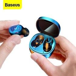 Baseus WM01 Mini Tws Draadloze Hoofdtelefoon Bluetooth Oortelefoon 5.0 Echte Draadloze Oordopjes Headset Voor Iphone 12 Pro Xiaomi Oordopjes