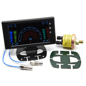 """Image 2 - 5 """"LCD 6 ב 1 פונקציות מרובות LCD אוטומטי רכב מד מד וולט שעון סל""""ד מים טמפ טמפ שמן לחץ שמן רכב מד מד מתח"""