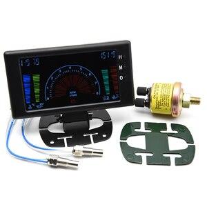 """Image 2 - 5 """"LCD 6 in 1 Mehrere Funktionen LCD Auto Auto Gauge Meter Volt Uhr RPM Wasser Temp Öl Temp öl Druck Auto Gauge Voltmeter"""