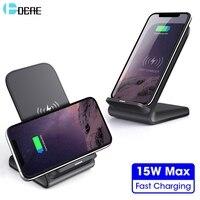 DCAE 15W 10W Draadloze Oplader Stand Qi Opladen Voor iPhone 11 XS Max XR X 8 USB Type C Snel Opladen voor Samsung S9 S10 Note 10 9-in Draadloze Opladers van Mobiele telefoons & telecommunicatie op