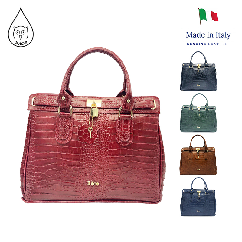 JUICE ,made In Italy, Genuine Leather, Lady's Handbag , Messenger Bag , Long Strap, 112215