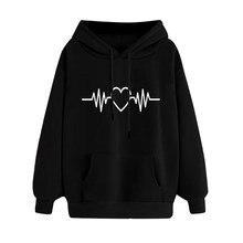 Hillbilly streetwear men harajuku hip hop new Spring autumn hoodie heart Electric printed Lazy casual Cotton sweatshirt