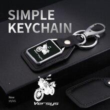 Mode Motorfiets Lederen Sleutelhanger Sleutelhanger Met Logo Accessoires Voor Kawasaki Versys 650 1000 300x 2016 2020 Accessoires