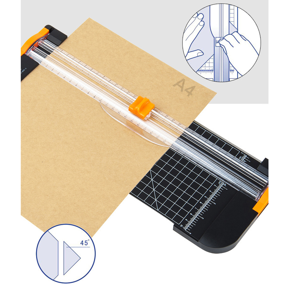 12 Inch Paper Cutter,A3,A4,A5 Paper Trimmer With Automatic Security Safeguard Guillotine For Coupon,Craft Paper,Label And Photo