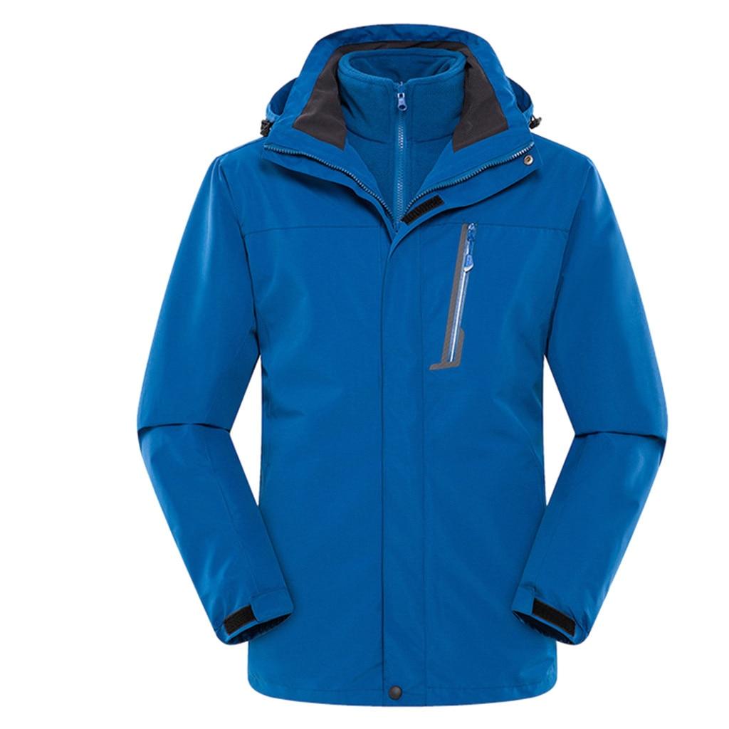 Couple Casual Autumn Winter Long Sleeve Hooded Zipper Fleece Outdoor Jackets Sun Protection Jackets Ultra Light Windbreaker - 4