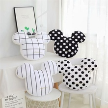 Lovely New 48cm Nordic Style Mouse Head Plush Pillow Toy Soft Cartoon Rat Stuffed Doll Home Decoration Chair Cushion Girls Gifts