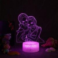 Lampada 3d NANA Anime Light per la decorazione della camera da letto dei bambini luce notturna Manga Gift Room Decor tavolo lampada da notte a Led Nana