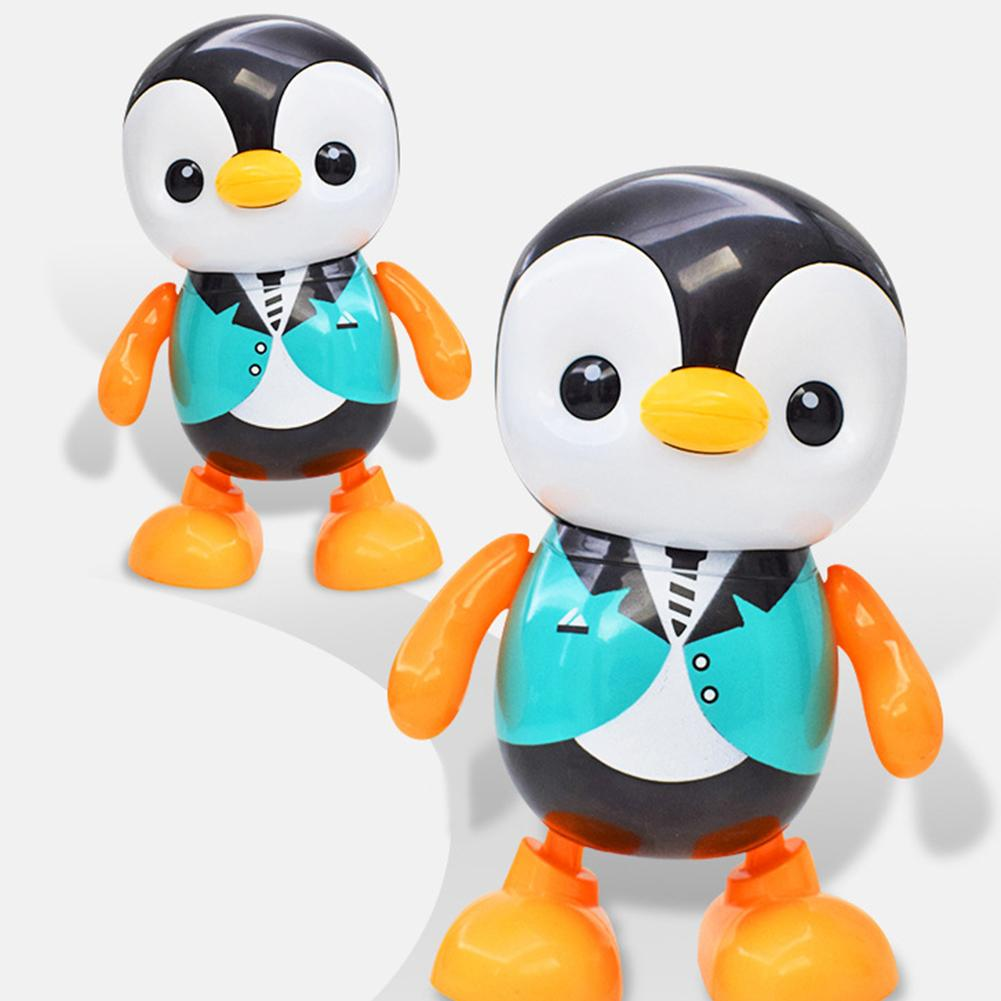 Electric Penguin Animal LED Flashing Music Dancing Robot Interactive Kids Toy Electronic Pets Electronic Toys Kids Children Gift