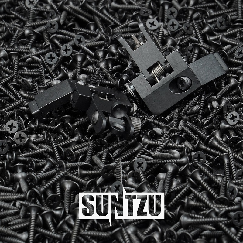 Tactical AR15 AR 15 AR-15 Folding Flip Up Front Rear Sight Offset Rapid Transition Backup Iron Sight Dual l Aiming Apertures