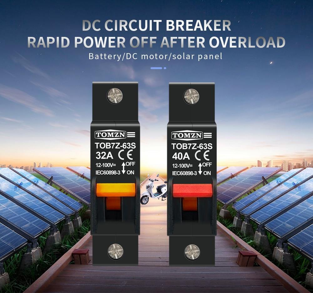 H18c425bd1dac4084a9079aee84cdfe44t - hydrautic magnetic type DC MCB circuit breaker 12V to 100V 32A 40A TOMZN TOB7Z-63S