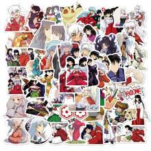 50 adet paketi Anime Inuyasha karikatür çıkartmalar Snowboard bagaj karalama defteri dizüstü kaykay araba çıkartma kırtasiye oyuncaklar