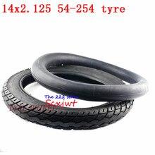 14 インチホイールタイヤ 14 × 2.125 / 54 254 タイヤインナーチューブは、多くガス電動スクーターとe バイク 14*2.125 タイヤ 14x2。125