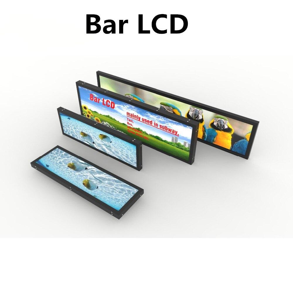 Affichage de publicité d'affichage à cristaux liquides de Type de barre tendue par écran Ultra large de moniteur de wifi de 60 pouces pour l'étagère de supermarché de café - 4