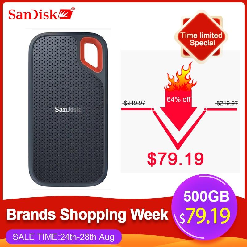 SanDisk SSD USB 3,1 tipo C 1TB 2TB 250GB 500GB disco duro externo de estado sólido 500 M/S disco duro externo para cámara o servidor de ordenador portátil|Unidades de estado sólido externas|   - AliExpress