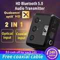 MR275 беспроводной bluetooth 5,0 аудио передатчик aptX HD ll оптический коаксиальный 3,5 мм Aux RCA аудио приемник адаптер двойной связи ТВ ПК