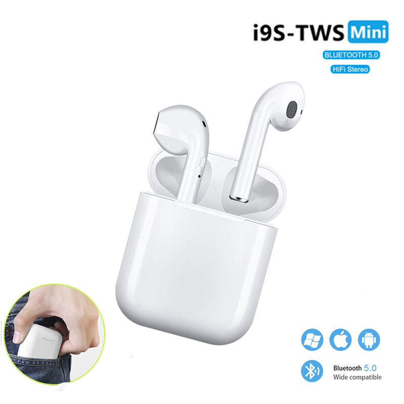 i9s <font><b>Tws</b></font> Headphone Wireless Bluetooth Earphone Mini Bluetooth Earbuds With Mic Charging Box Mobile Power Sport Headset <font><b>i10</b></font> i7s image