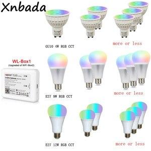Image 5 - Milight miboxer 2.4グラムled電球、MR16 GU10 E14 E27 ledランプスマートワイヤレス4ワット5ワット6ワット9ワット12ワットcct/rgbw/rgbww/rgb + cct ledライト