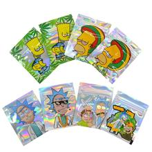 1-3g индивидуальные печатные мешочки, маленькие мешочки для закусок, конфет, герметичные пакеты для хранения пищевых продуктов, 100 шт.
