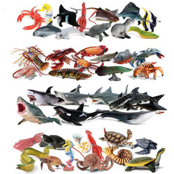 Мини-модель, Акула, Кит, кальмар, мягкая резиновая игрушка, фигурка животного, коллекционная игрушка, морские организмы экшн-фигурки животны...