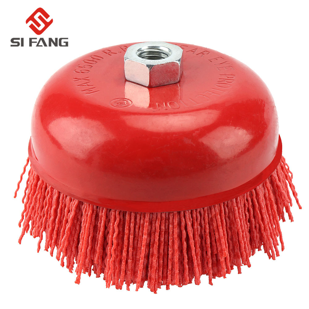 150mm  Cup Nylon Abrasive Brush Wheel Pile Polymer-abrasive Bowl Cup  Nylon Brush 6 Inch Angle Grinder Tool