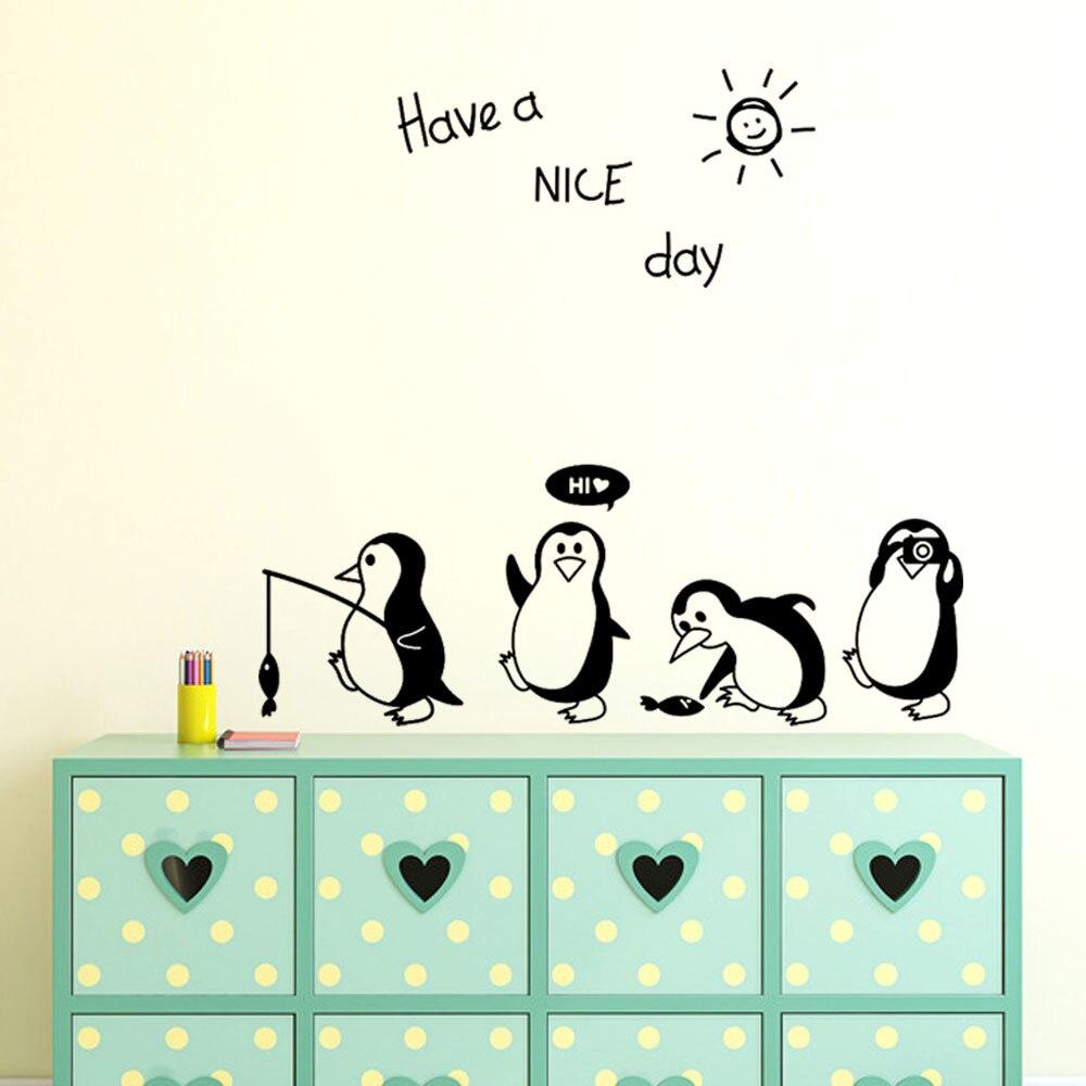 لطيف ملصقات الثلاجة Havea لطيفة اليوم ملصق لطيف البطريق ملصقا الثلاجة المطبخ الثلاجة ملصقات جدار الفن декор для дома