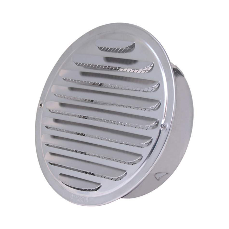 SEAAN Stainless Steel Exterior Wall Air Vent Grille Round Ducting Ventilation Grilles 70/80/100/120mm Air Vent