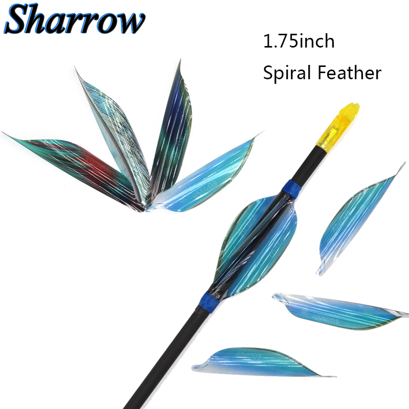 50/100pcs Archery Spin Vanes Right Wing 1.75