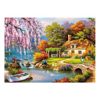 DIY Puzzle 1000 Pieces Jigsaw Puzzle Difficult For Aduct Rural Landscape Safe Early Educational Puzzle Games Toy For Adults Kid image