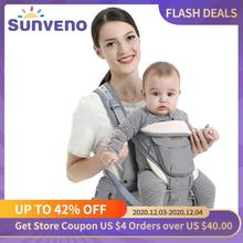 Sunveno Ergonomic Baby Carrier Baby Kangaroo Child Hip Seat Tool Baby Holder Sling Wrap Backpacks Baby Travel Activity Gear