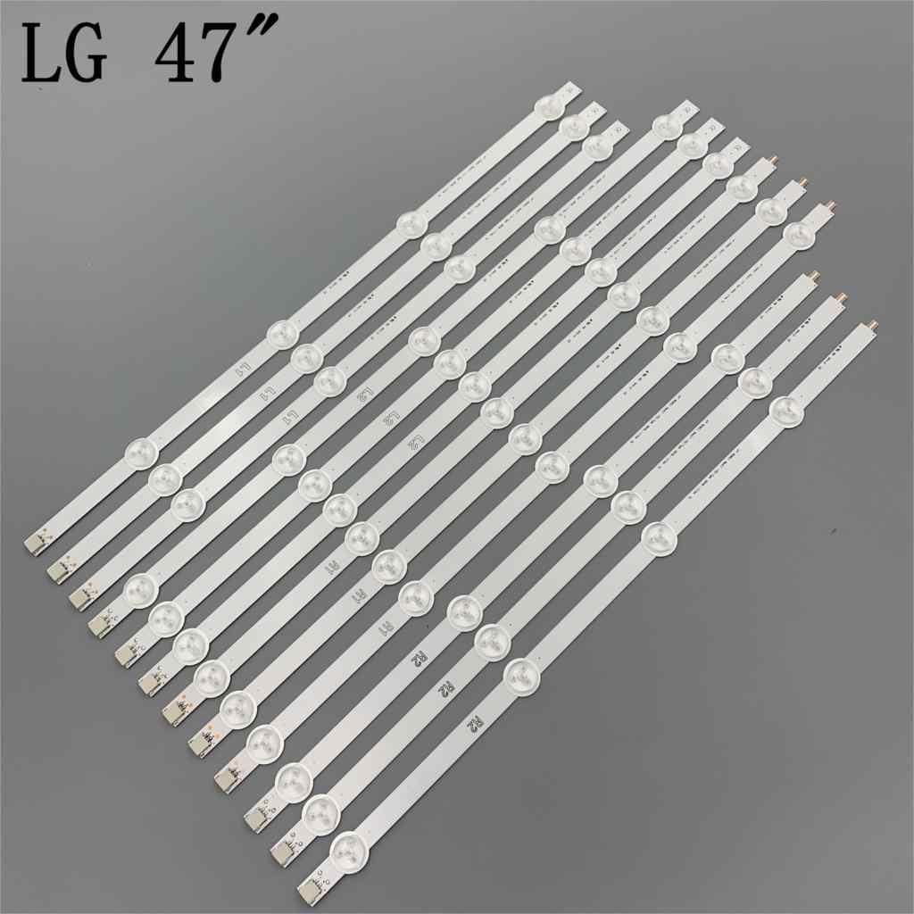 """12 قطعة/مجموعة جديد 47 """"LG 47LN5400-CN 47LA620V LED قطاع 6916L-1174A 6916L-1175A 6916L-1176A 6916L-1177A ، (3 * R1 ، 3 * R2 ، 3 * L1 ، 3 * L2) ،"""