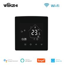 WZ-X5 Wenzhi WiFi inteligentny termostat regulator temperatury woda elektryczne ogrzewanie podłogowe kocioł gazowy współpracuje z Alexa Google Home tanie tanio CN (pochodzenie) 3A 16A 20A