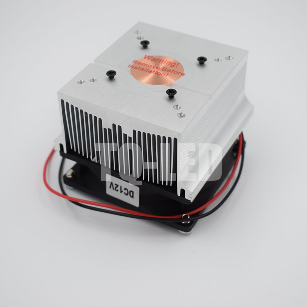12V Aluminum Heatsink With Fan 20W 30W 50W 60W 100W High Power Led Radiator Screws Together As Gift