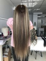 Fabwigs 150% Density Highlight Ombre Blonde Full Lace Human Hair Wigs Transparent Lace Wigs Pre Plucked Cami Color Full Lace