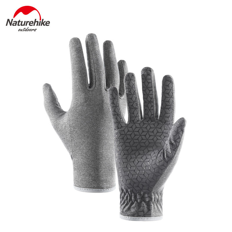Naturehike Thin Touch Screen Gloves Non Slip Breathable Full Finger Gloves Unisex For Outdoor Sports Camping Running NH20FS015