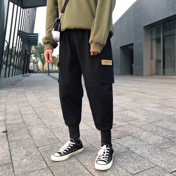 2020 Hip Hop Harem Pants Multi-pocket Japanese Style Trousers Sweatpants Streetwear Men Joggers Track Casual Cargo Pants new track pants winter sports trousers straight casual pants male large size multi pocket outdoor running pants streetwear men