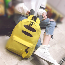 Anime Pokemon Go Bag Cosplay Accessories Prop Pikachu Cartoon Lovely Canvas Backpack