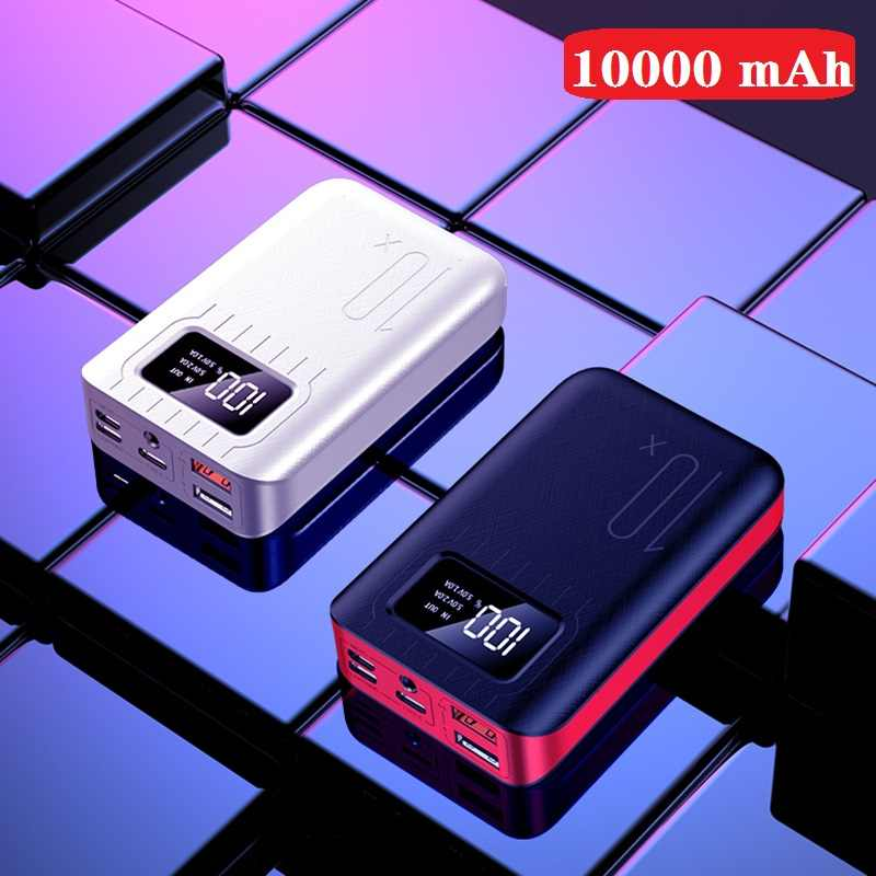 Mini Power Bank Waterproof Portable 10000 MAh for All Xiaomi Smart Phone Battery Powerbank Fast Charging External Battery  LED