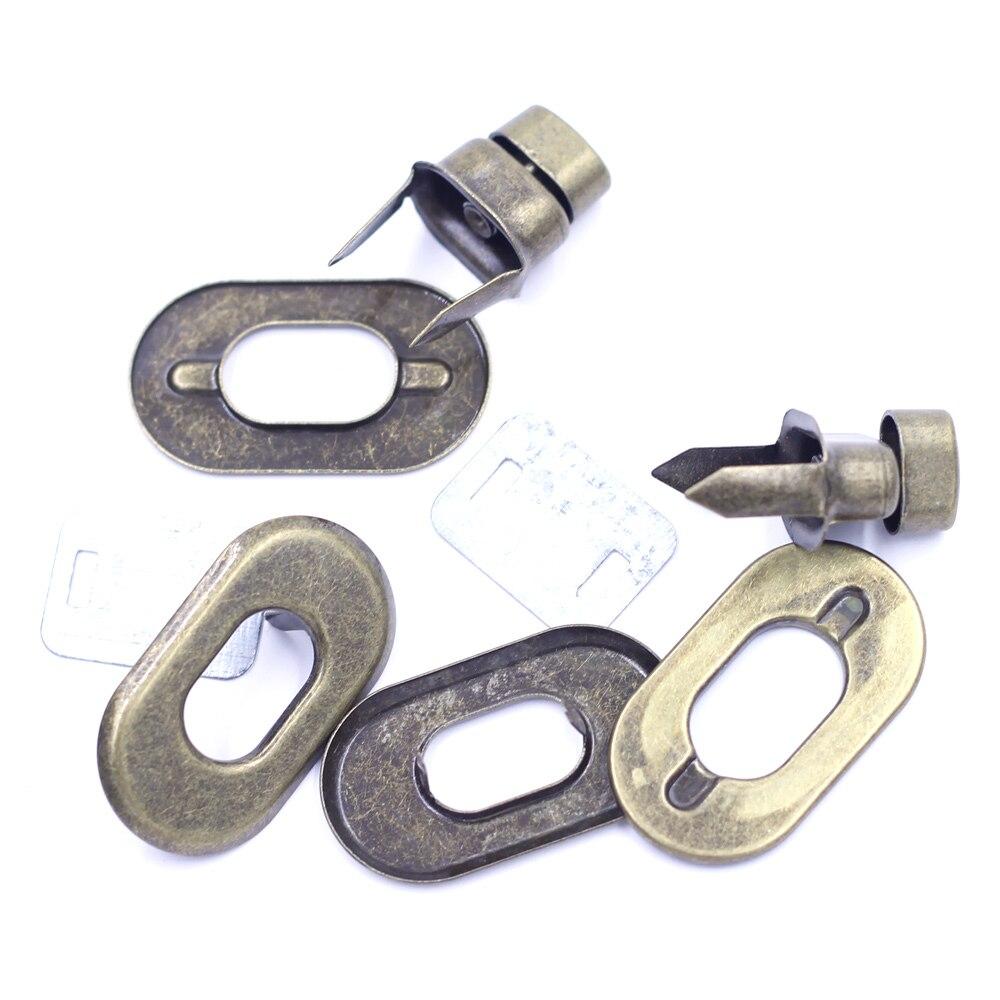 10 Sets Silver Tone Oval Clasps Handbag Bag Accessories Twist Turn Lock 37x21mm