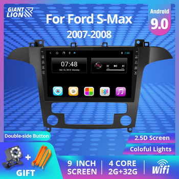 цена на 9'' IPS Car Radio Android 9.0 Auto Stereo Multimedia For Ford S-Max Ford S Max 2007 2008 GPS Navi Navigation WiFi Car DVD Player