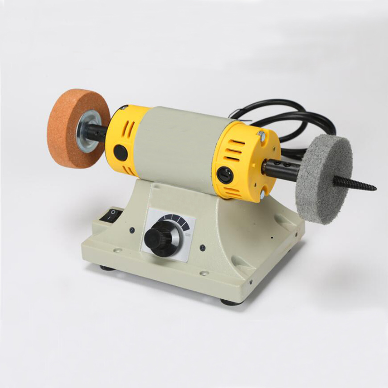 Jade Cutting Machine Small Table Mill Adjustable Speed Mini Polishing Machine For Jewelry Motor Tool Lathe Bench Grinder Kit