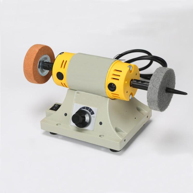 Jade Cutting Machine Small Table Mill Adjustable Speed Mini Polishing Machine For Jewelry Motor Tool Lathe Bench Grinder Kit