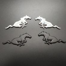 2PCS 3D Chrome Metal Running Horse Sticker Emblem Badge For Ford Mustang Shelby GT Rear Trunk Decor Car Styling Accessories цена и фото