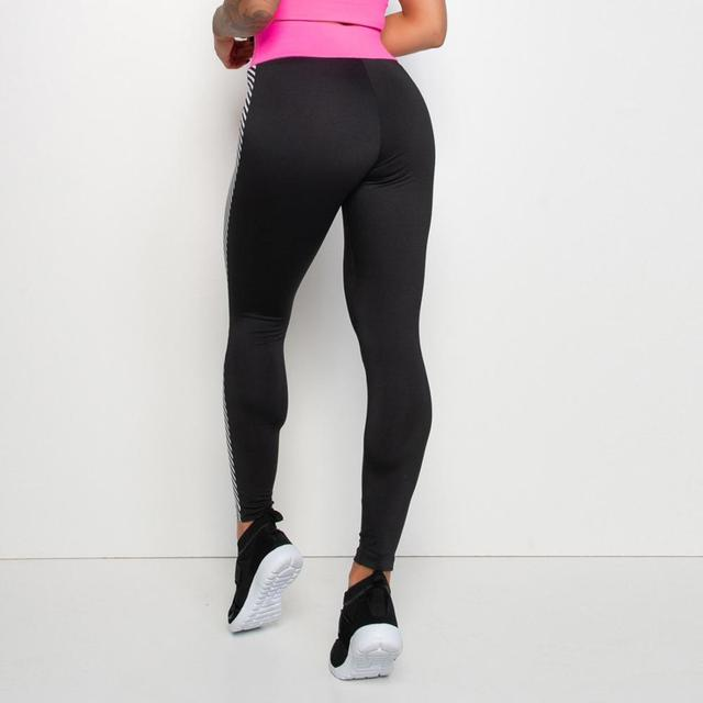 Athletic yoga pants with pink waistband XS-XL