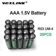 VOXLINK 20PCS aaa Battery 1.5v  LR6 AM3 R03 MN1500 Carbon Dry Battery Primary Battery For keyboard camera flash razor electric sale 4 10pcs 1 5v lithium aa battery 3000mah lr6 am3 2a lifes2 cell dry primary battery for camera and toys electric shaver