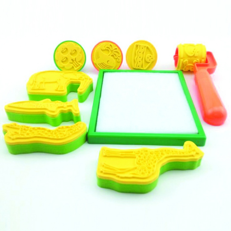 Magic Painting Brush Seal Molds For Water Drawing Mat Kids Educational Toy Drawing Accessories For Creative Kids