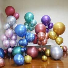 30/50 adet altın metalik Balon düğün mutlu doğum günü lateks balonlar Metal krom Balon hava helyum Balon Merry Christmas 2021