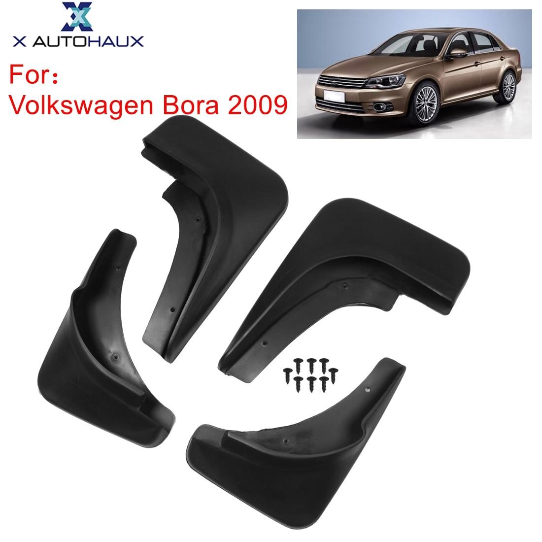 X Autohaux 4 шт. черный пластиковый автомобильный передний задний крыло брызговики Брызговики Набор для Volkswagen Bora 2009 для Polo 2011